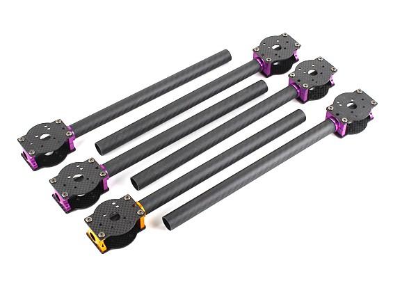 HobbyKing ™ S700 carbono y metal Hexacopter carbono Boom Set (6pcs)