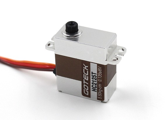 Goteck HC2125T HV Digital MG metal Entubado Mini Servo 20g / 6,5 kg / 0.12sec