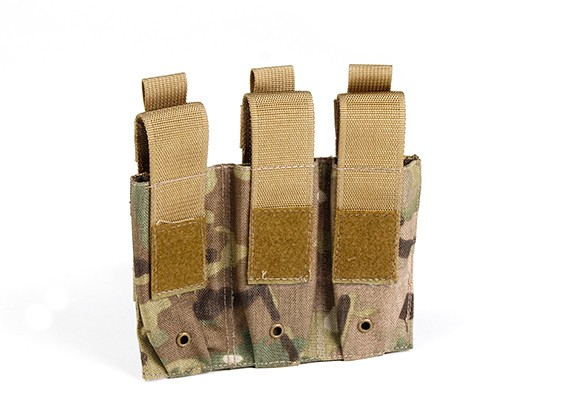 SWAT 500D Nylon Molle arma de mano Triple Mag Pouch (GV)