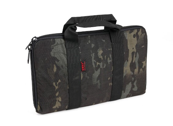 SWAT Cordura arma de mano bolsa de transporte (GV Negro)