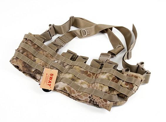 SWAT Cordura Molle frontal Chest Rig (Kryptek Highlander)