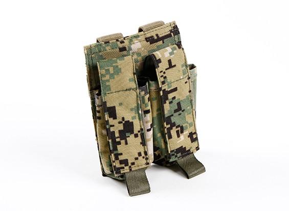 SWAT 500D Nylon Molle Arma de doble Mag Pouch (AOR2)