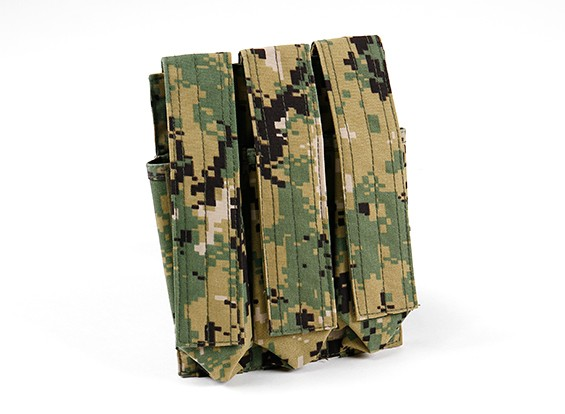 SWAT 500D Nylon Molle MP7 Triple Mag Pouch (AOR2)