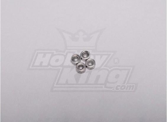 HK-250GT cojinete de bolas de 4 x 2 x 1,5 mm (4pcs / set)