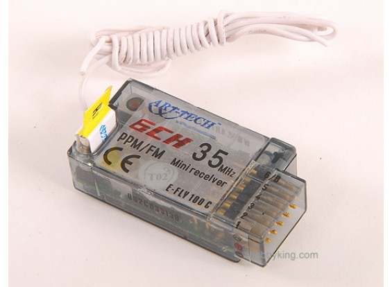 E-Fly 6Ch receptor PPM / FM 35Mhz
