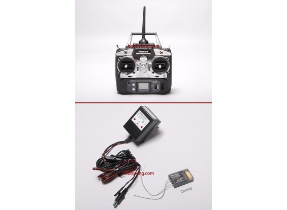 Futaba 6EX de 2,4 GHz de FAAST sistema de radio w / R617FS receptor (Modo 1)