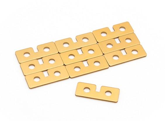 Servo placa de metal (oro) 10pcs