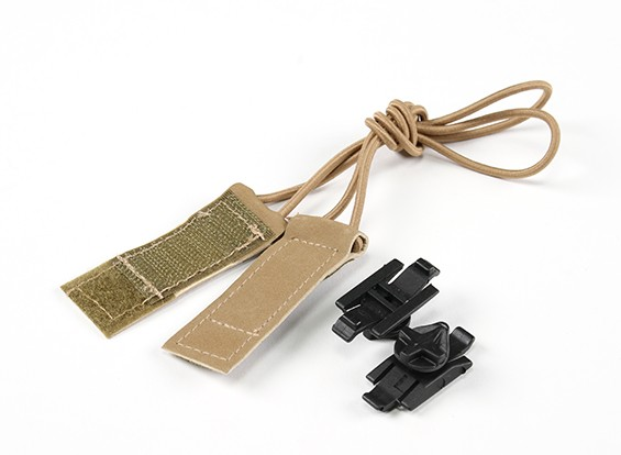 FMA Goggle Bungee correa de velcro Kit (tierra oscura)