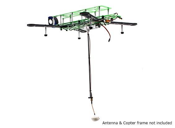 Sistema de antena FPV HobbyKing ™ retráctil con cable de extensión