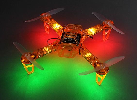 Noche HobbyKing FPV250 V4 Naranja Fantasma Edición LED folleto FPV aviones no tripulados (Naranja) (Kit)
