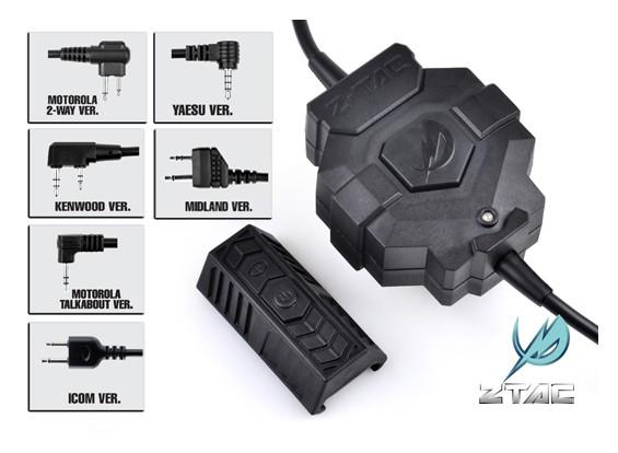 Z estilo táctico Z123 Ztac PTT inalámbrico (ICOM)