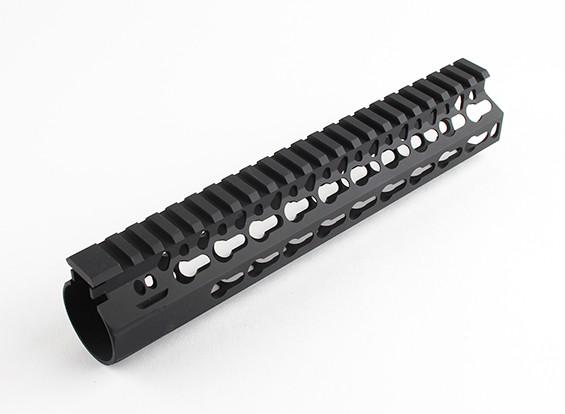 Dytac Bravo Rail 9 pulgadas para Marui perfil (M31.8 / P1.5, Negro)