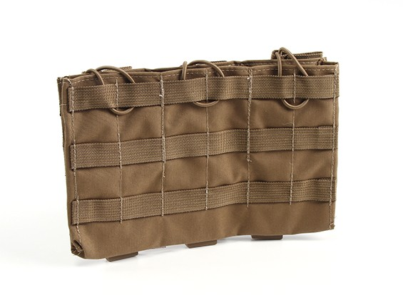 Grey Ghost engranaje triple 5,56 Mag Pouch (Coyote Brown)
