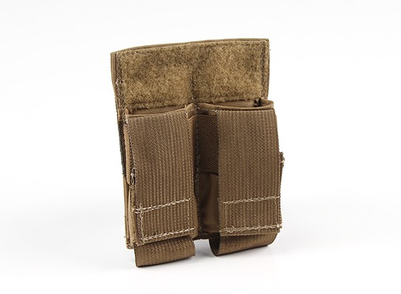 Grey Ghost engranaje doble Pistola Mag Pouch (Coyote Brown)