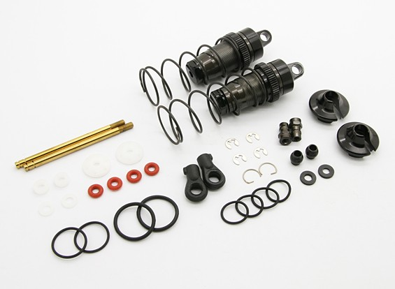 Amortiguador delantero (Big Bore) - BZ-444 Pro 1/10 4WD Buggy Racing (1 par)