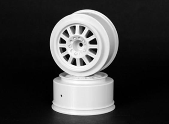JConcepts peligro 1/10 de la rueda delantera del carro - Blanco
