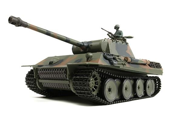 Alemán PzKw V (Panther) RC Tanque RTR w / Airsoft y Tx (enchufe de la UE)