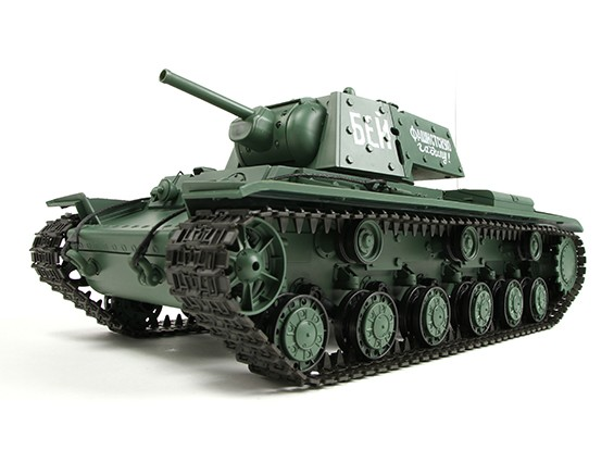 KV-1S Ehkranami RC Tanque RTR w / Airsoft / Humo y Tx (enchufe de EE.UU.)