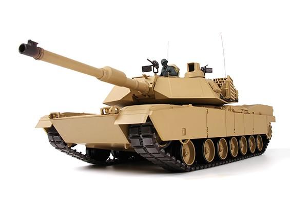 El tanque M1A2 ABRAMS US-RC w / 2.4ghzTX, guías metálicas, sonido y Airsoft (RTR)