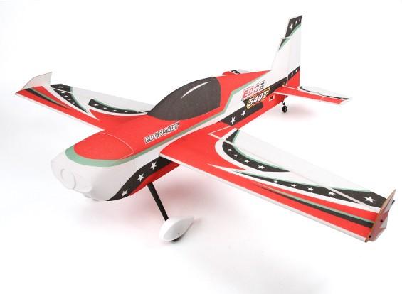 HobbyKing ™ Edge 540T PPE / Luz madera contrachapada 3D Avión Acrobático 1430mm (ARF) (Rojo)