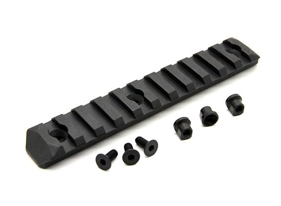 PTS mejorada sección de carril Keymod 11 ranuras (Negro)