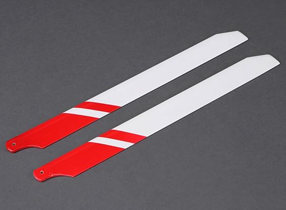 360 mm de fibra de vidrio de láminas principales (rojo / blanco)