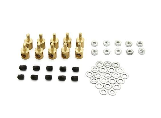 Vinculación de latón tapón para Pushrods de 3 mm (10 piezas)
