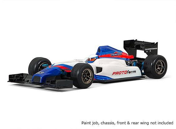 Protoform F1-Catorce Cuerpo limpio de 1/10 Fórmula 1
