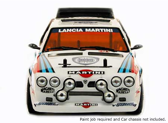 Leyendas de rally 1/10 Lancia Delta S4 carrocería sin pintar coches w / etiquetas