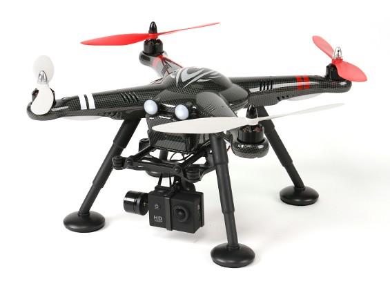 XK Detectar X380-C 2.4 GHz GPS modo Cuatro Copter 2 w / Cam Acción HD y de 2 ejes cardán (RTF) enchufe de Reino Unido