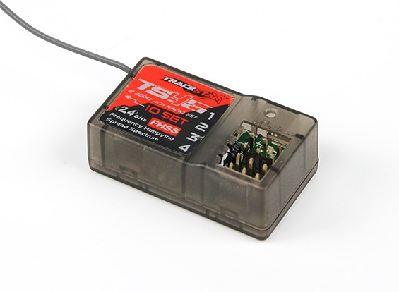 TrackStar TS4G 2,4 GHz de 4 canales receptor integrado Gyro
