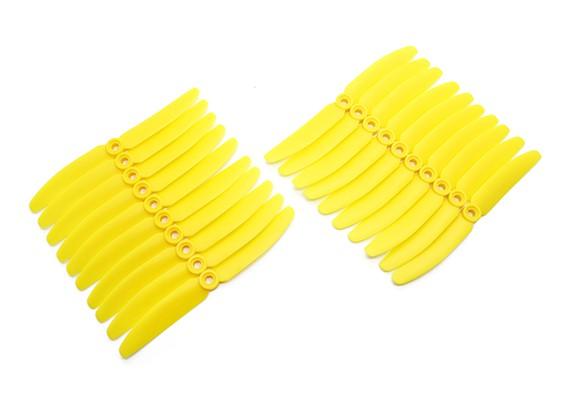 Gemfan 5030 Multirotor ABS Propulsores Bulk Pack (10 pares) CW CCW (amarillo)
