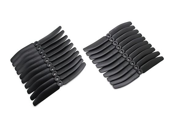 Gemfan 5040 Multirotor ABS Propulsores Bulk Pack (10 pares) CW CCW (Negro)