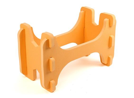 HobbyKing ™ Ligera espuma avión modelo del soporte (naranja)