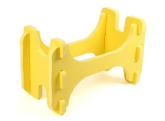 HobbyKing ™ Ligera espuma avión modelo del soporte (amarillo)