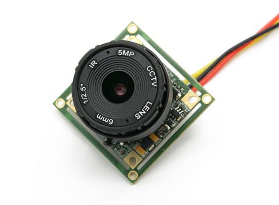 1 / 2,5 pulgadas Sony CCD de la cámara de vídeo 700TV Líneas F2.0 5MP IR (PAL)