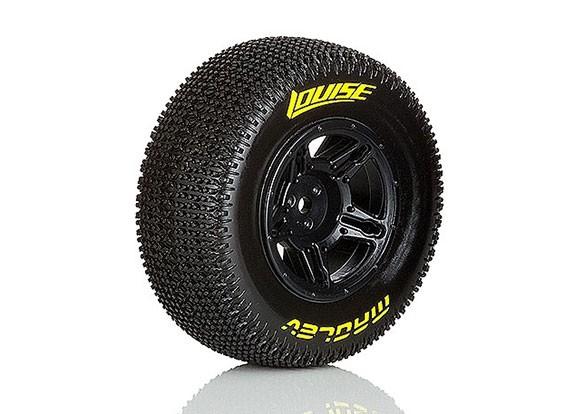 LOUISE SC-MAGLEV 1/10 Escala neumáticos de camión montado atrás de Super Soft Compound / Negro Borde /