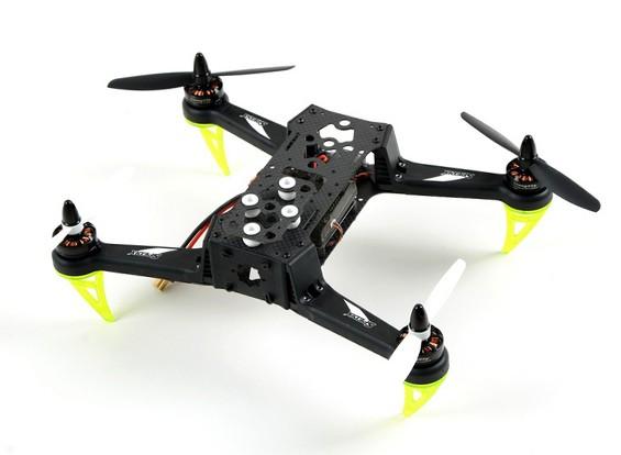 Spedix S250Q la fibra del carbón que compite con aviones no tripulados w / AP CC3D Motor ESC Propulsores (ARF)