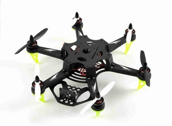Spedix S250H la fibra del carbón que compite con aviones no tripulados FPV CC3D AP Motor ESC Propulsores (ARF)