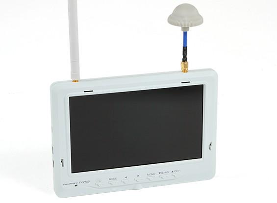 """7 """"1024 x 600 32CH 5.8GHz FPV monitor LCD w / Búsqueda automática y Div Rx Fieldview 777 HD (enchufe de EE.UU.)"""