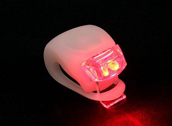 Blanco de silicio mini-lámpara (LED rojo)