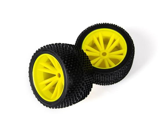 BSR Beserker 1/8 Truggy - Juego de ruedas (amarillo) (1 par) 817351-Y