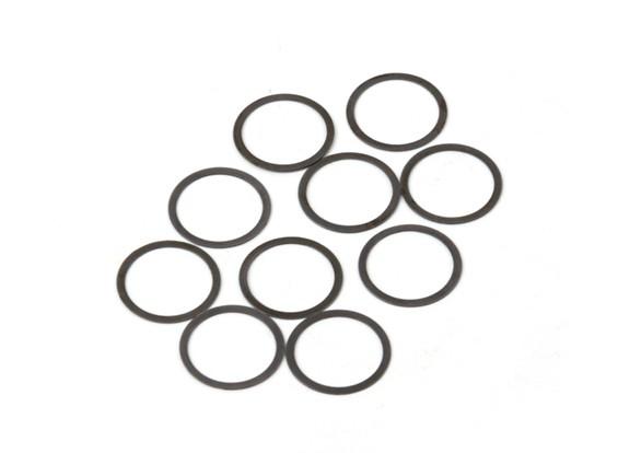 BSR Beserker 1/8 Truggy - Shim 13.2x15.9x0.3mm (10 piezas) 941313