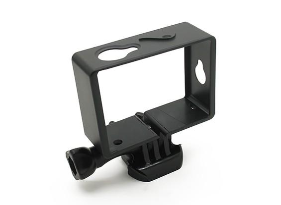 Plástico del marco de montaje para cámara de la acción Xiaoyi w / universal de liberación rápida Monte