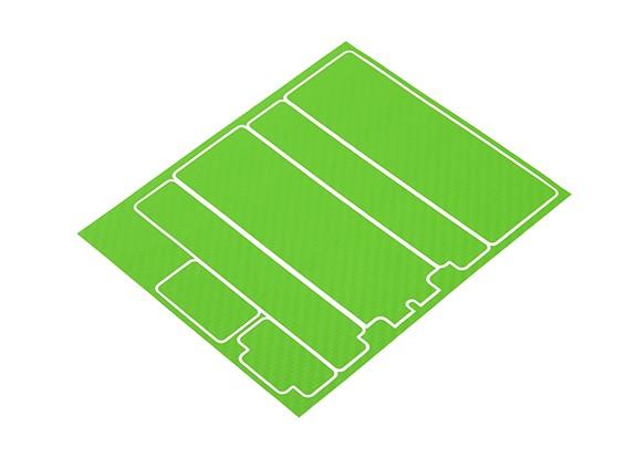 Paneles decorativos TrackStar cubierta de batería para el patrón estándar de Hardcase 2S carbono verde (1 unidad)