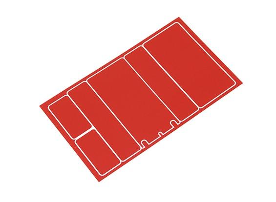 Paneles decorativos TrackStar cubierta de batería para 2S Chapo Paquete metálico de color rojo (1 unidad)
