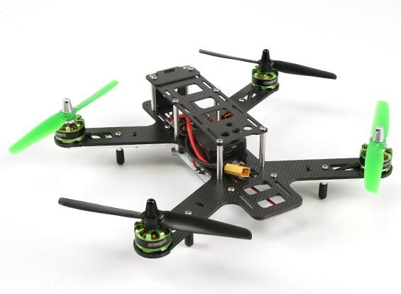 Quanum fuera de la ley 270 de fibra de carbono Quadcopter Racer Conjunto (ARF)
