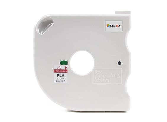CoLiDo 3D Filamento impresora 1.75mm PLA 500g Carrete w / Cartucho (verde)