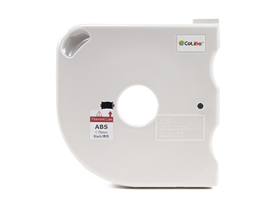 CoLiDo 3D Filamento impresora 1.75mm ABS 500g Carrete w / Cartucho (Negro)