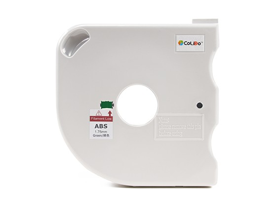 CoLiDo 3D Filamento impresora 1.75mm ABS 500g Carrete w / Cartucho (verde)